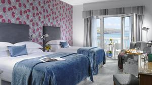 One of the bedrooms at Dunmore House Hotel