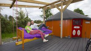 Owners Tuesday and Wes Pollingtonof Willowbrook Glamping and Hideaways in Roscommon. Photo Brian Farrell