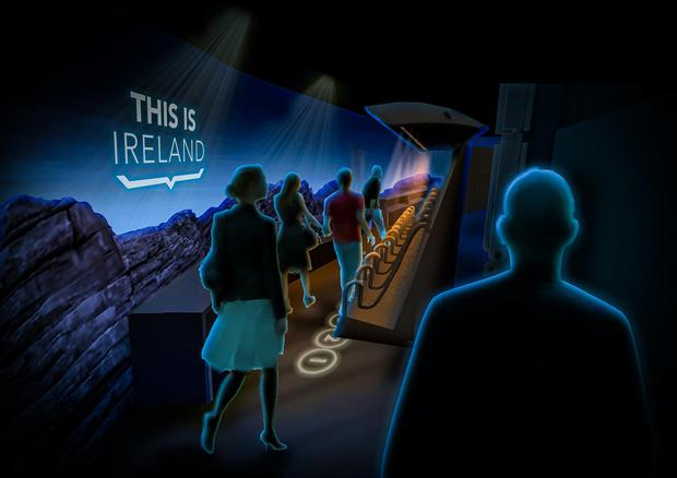 Inside 'This is Ireland' in Dublin City (artist's impression)