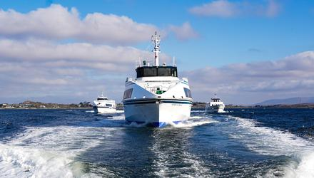 Aran Islands Ferries' Saoirse na Farraige vessel. Photo: Boyd Challenger