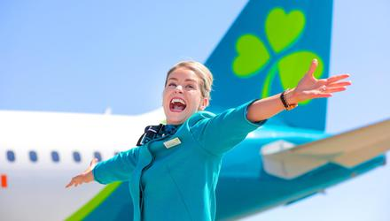 Aer Lingus celebrated the return of non-essential travel on July 19