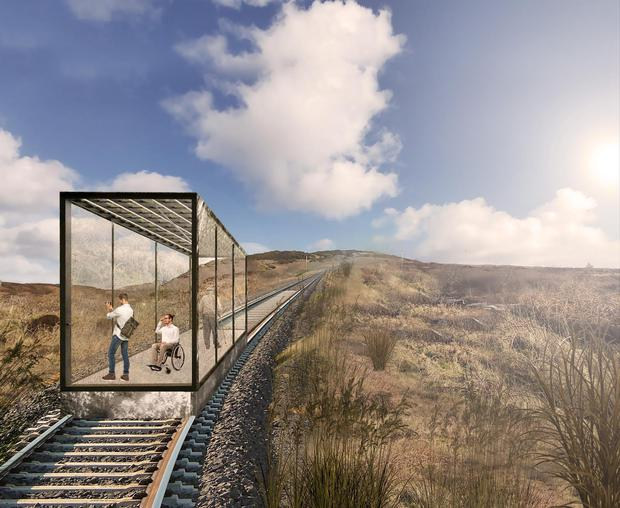 An artist's impression of the new funicular proposed for Fort Dunree, Co Donegal