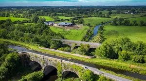 An aerial photo of the Royal Canal Greenway in Co Meath
