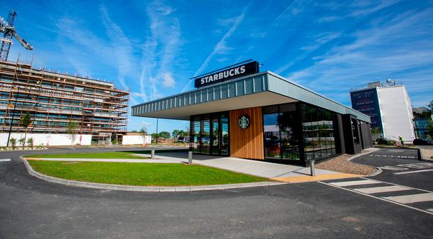 Ireland's first drive-thru Starbucks opens for business