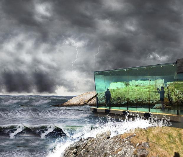 Part of the proposed development for Fort Dunree, Co Donegal