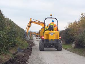Construction along the Great Southern Greenway, Limerick. Photo: Department of Transport