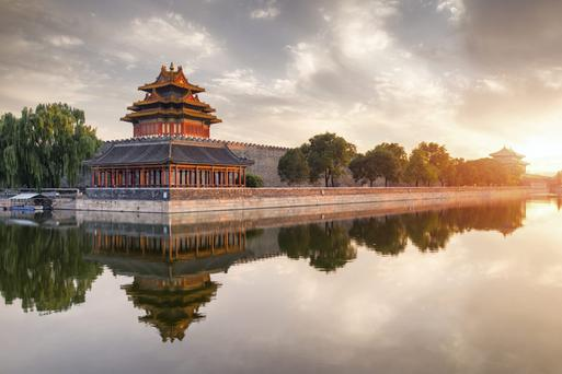 Conner of the Forbidden City, Beijing, China