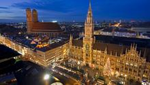 Aerial view of the Marienplatz, Munich, Germany. Photo: Getty Images