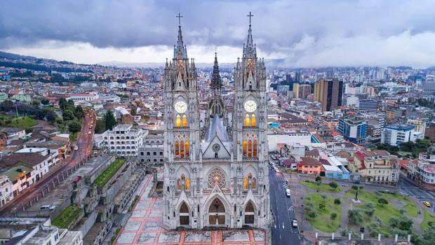 The old cathedral in central Quito