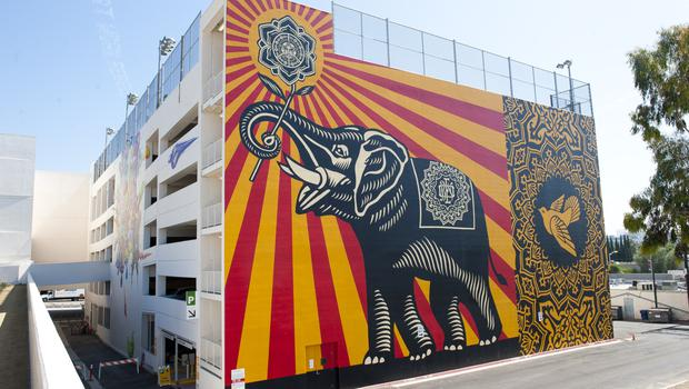 West Hollywood library mural