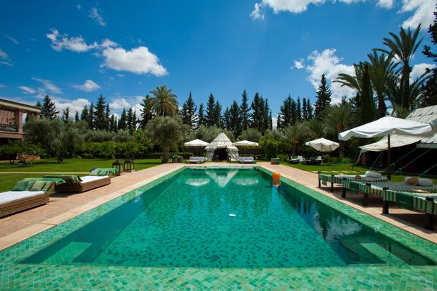 A-list getway: Ezzahra swimming pool - the hotel has an army of 17 staff to meet its guests' every need