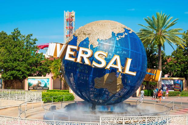 The famous Universal Globe at Universal Studios Florida theme park. Photo: Deposit