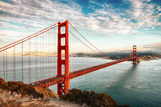 Golden Gate Bridge in San Francisco.
