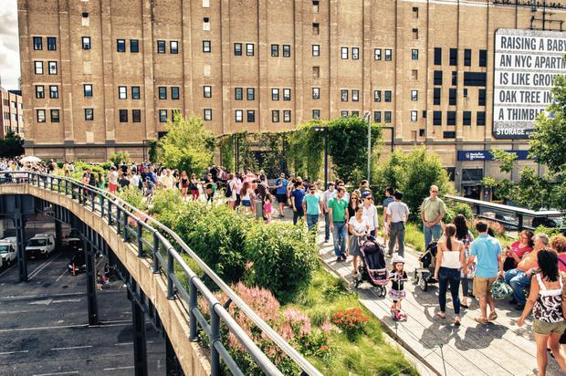 The well-loved park, the Highline