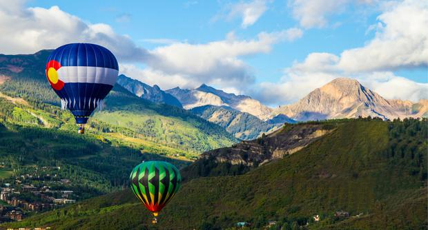 Lighter than air at the Snowmass Balloon Festival in Colorado