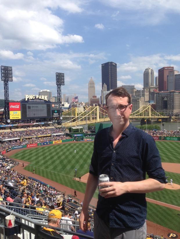 Jamie at PNC Park, home of the Pittsburgh Pirates