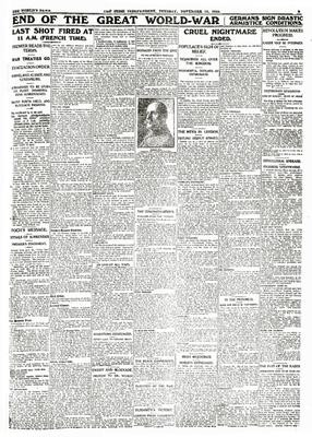 The 'Irish Independent' on the end of the Great War