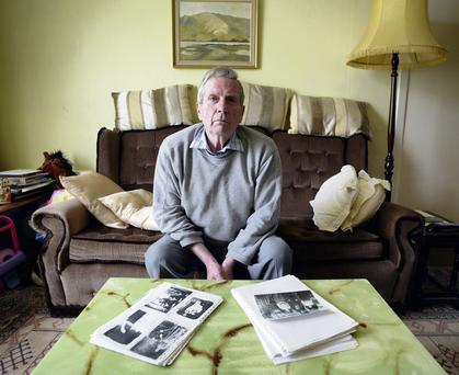 Ciaran Branigan with some of the war memorabilia of his seven uncles. Dave Meehan