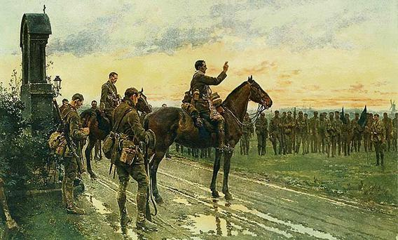 Fr Gleeson of the Munsters during a battle