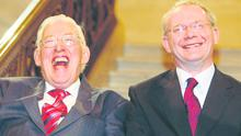 Former foes Ian Paisley and Martin McGuinness were dubbed 'the Chuckle Brothers' in the press.