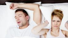 No pillow talk: Forget sweet dreams if you sleep beside a snorer