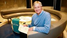 Anchor man: Michael Lyster prepares for his 30th season at the helm of 'The Sunday Game'; inset, the panellists; from top right, the many faces of Michael Lyster from the 1980s to 1990s