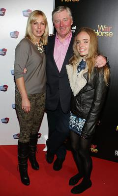 Pat Kenny with wife Kathy Kenny and daughter Nicole at the opening night of Warhorse at The Bord Gais Energy Theatre Pic:Brian McEvoy No Repro fee for one use