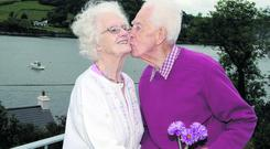 NEWS 12/6/2012 Pictured at their home at Union hall Co Cork on Tuesday was Frank 96 and Mary 91 Denvir who are still madly in love after 70 years of marriage. The Couple were married in 1942. Picture Denis Boyle