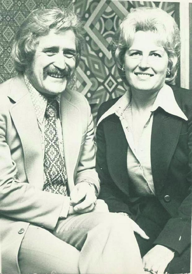 SONNY KNOWLES, SINGER, AND WIFE SHEILA.