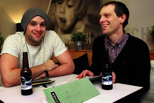 Bressie and Ed at lunch in Kitchen restaurant in Dublin. Photo: Ronan Lang