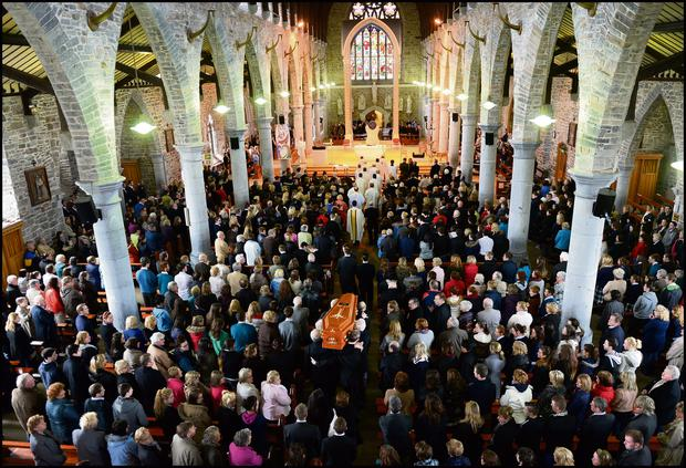 St. Johns Church in Tralee, Co. Kerry was packed with mourners at Donal's funeral.