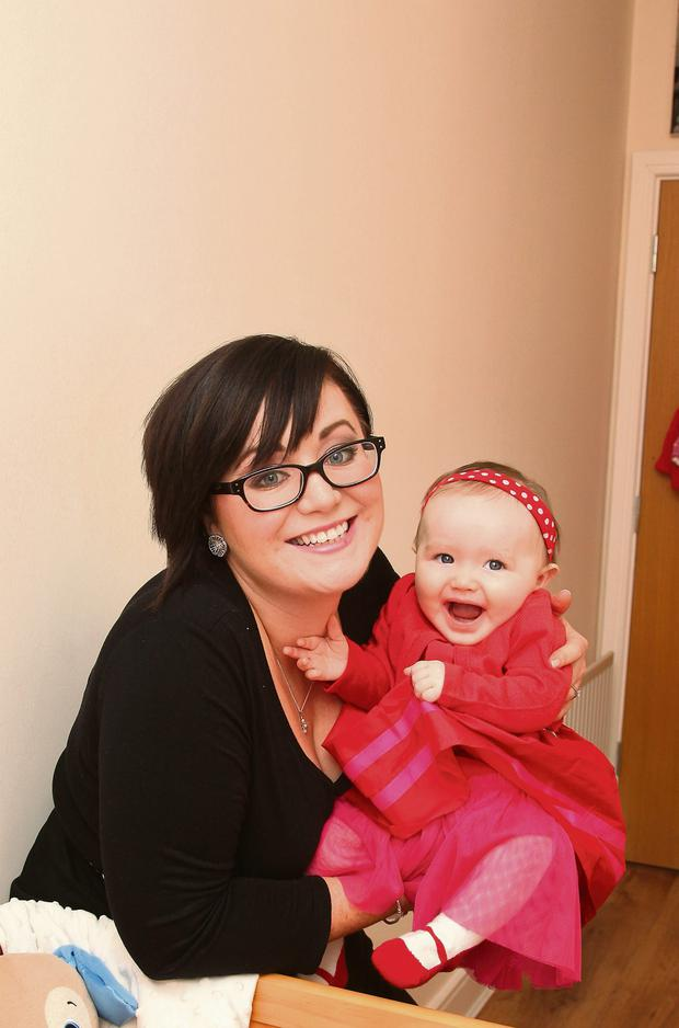 DEE FURLONG WITH HER DAUGHTER DAISY REA, AGED 7 MONTHS Photo: MARTIN MAHER