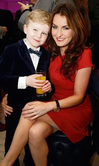 Mairead Farrell and her son Dara. The radio and TV star has said she would love another baby.