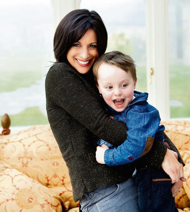 Lucy Kennedy with son Jack. Photo: Jenny McCarthy, VIP Magazine