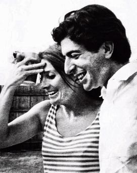 Judy with Leonard Cohen in 1968.