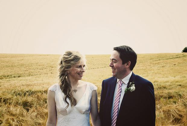 Enjoing being newly weds: Naoise McNally and Ronan Lyons