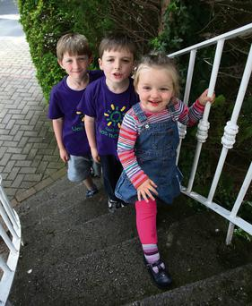 Tom, Charlie and Neasa McCormack, whose mum Georgie is a fan of summer camps. MARTIN MAHER
