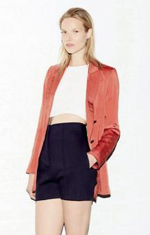 At Zara you'll find loosely tailored shorts, such as the navy high- waisted pair ( €39.95).