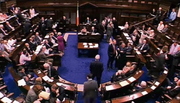 The 'Lapgate' incident in the Dáil