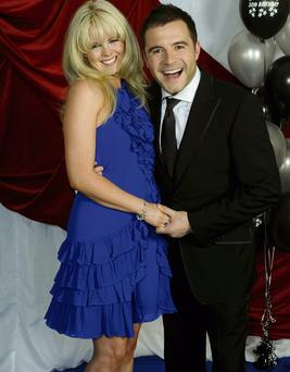 YOUNG LOVE: Shane Filan with his wife Gillian. 'We did get married quite young,' he says. 'But we started going out very young as well. I've loved her since I was very young.'