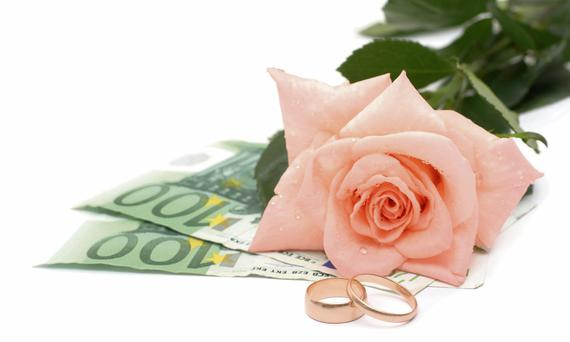 The average wedding guest will spend a week's wages watching their pals say 'I do'.