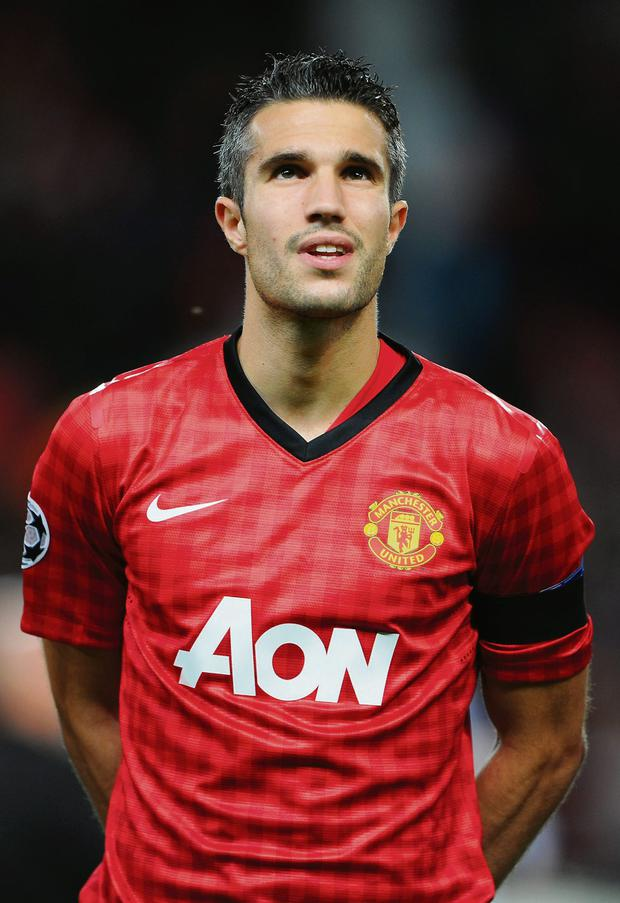Robin van Persie sports some grey temples