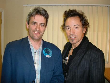 RTE's David McCullagh with Springsteen