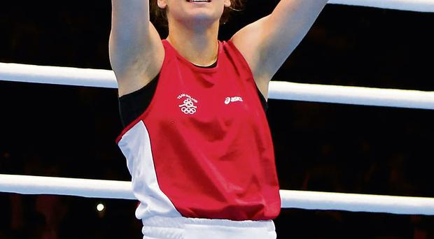 Katie Taylor shed tears of joy at the London Olympics