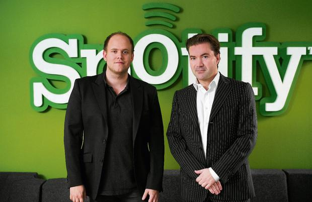 Hitting the right note: Spotify co-founders Daniel Ek and Martin Lorentzon