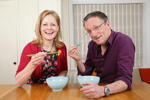 Bon appétit: Xanthe Clay makes lunch for 5:2 diet guru Michael Mosley