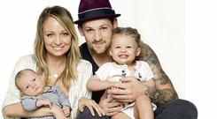 Nicole, her husband Joel and their two daughters Harlow and Sparrow