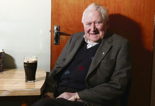 Living life to the full: Andy McGovern long-term sufferer of motor neurone disease, enjoys a pint of Guinness at his home in Mohill, Co Leitrim