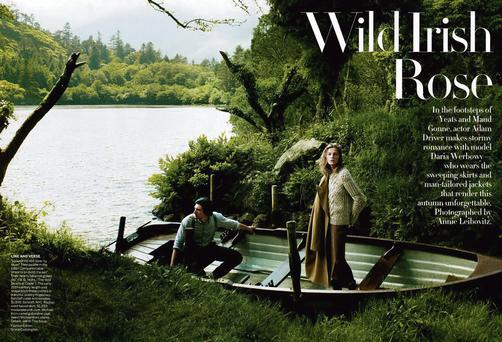 The issue of Vogue magazine which featured a fashion shoot in Kerry and Cork