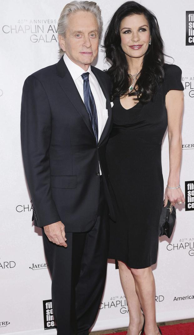 Michael Douglas and wife Catherine-Zeta Jones